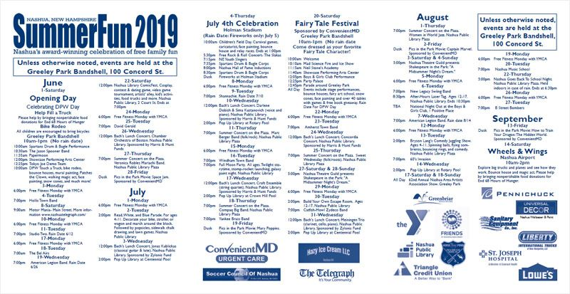 SummerFun Calendar of Events Brochure Cover
