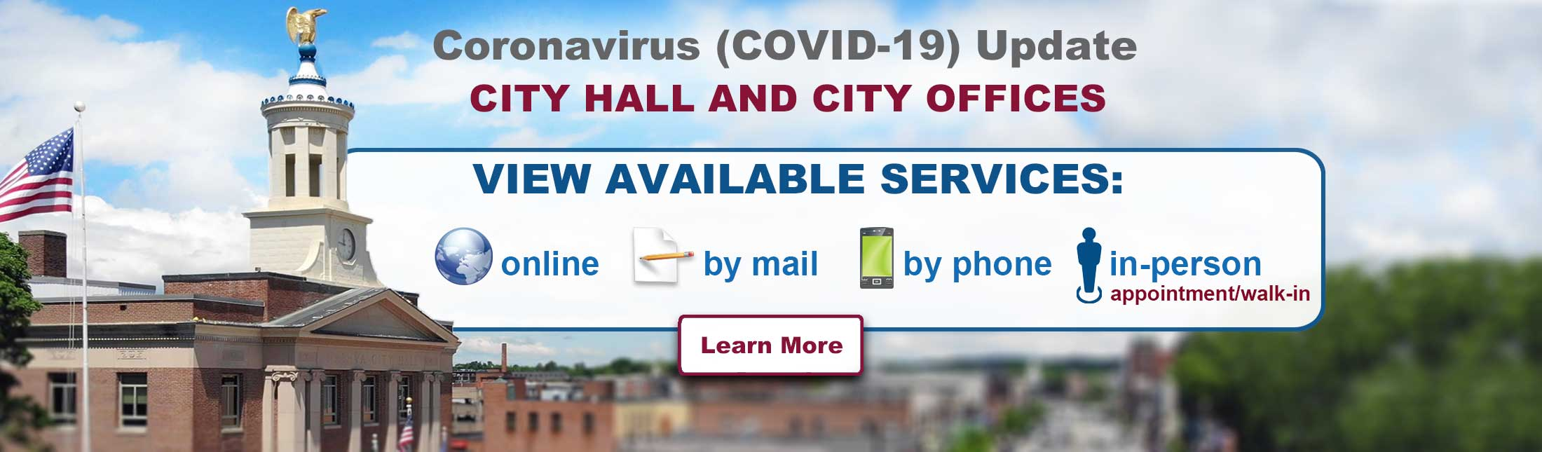 City Offices Closed - View available services