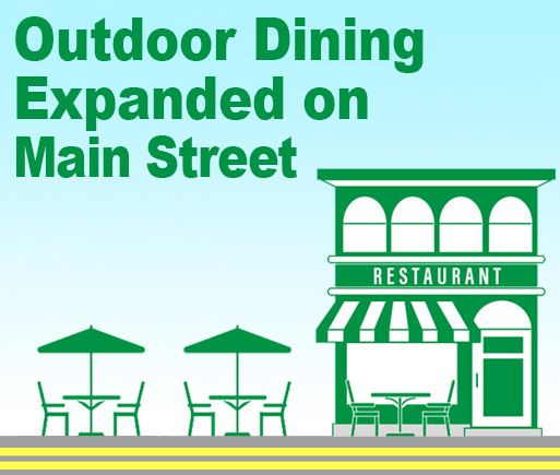 News Outdoor Dining Expanded Main St