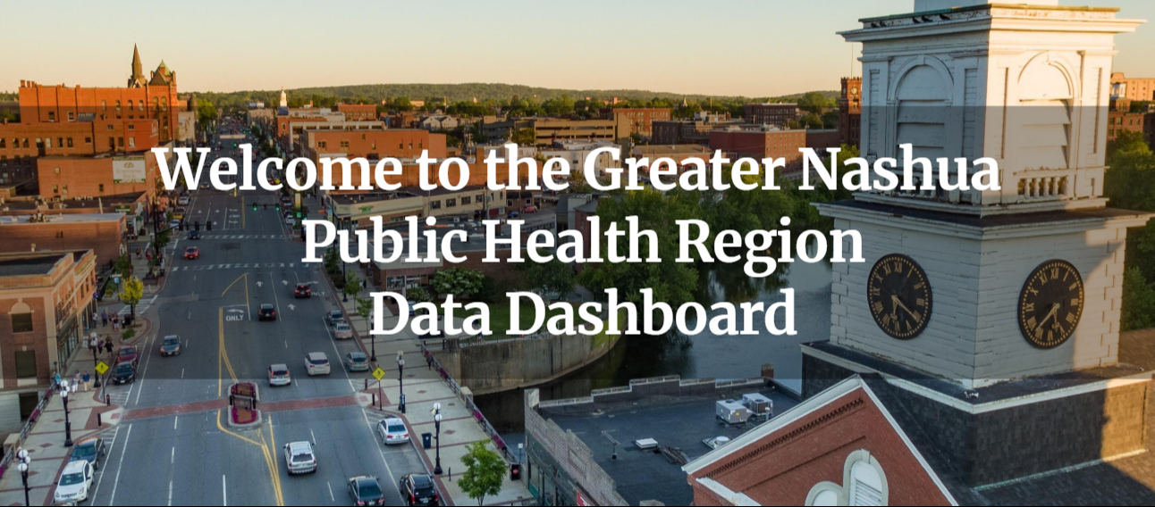 image of downtown Nashua main street for livestories data dashboard homepage