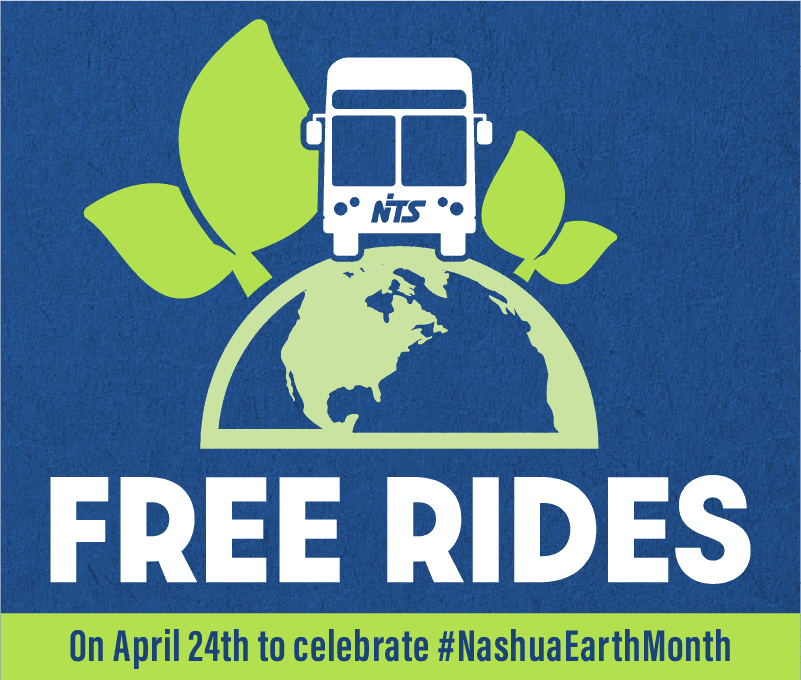 Free rides on April 24th to celebrate #NashuaEarthMonth