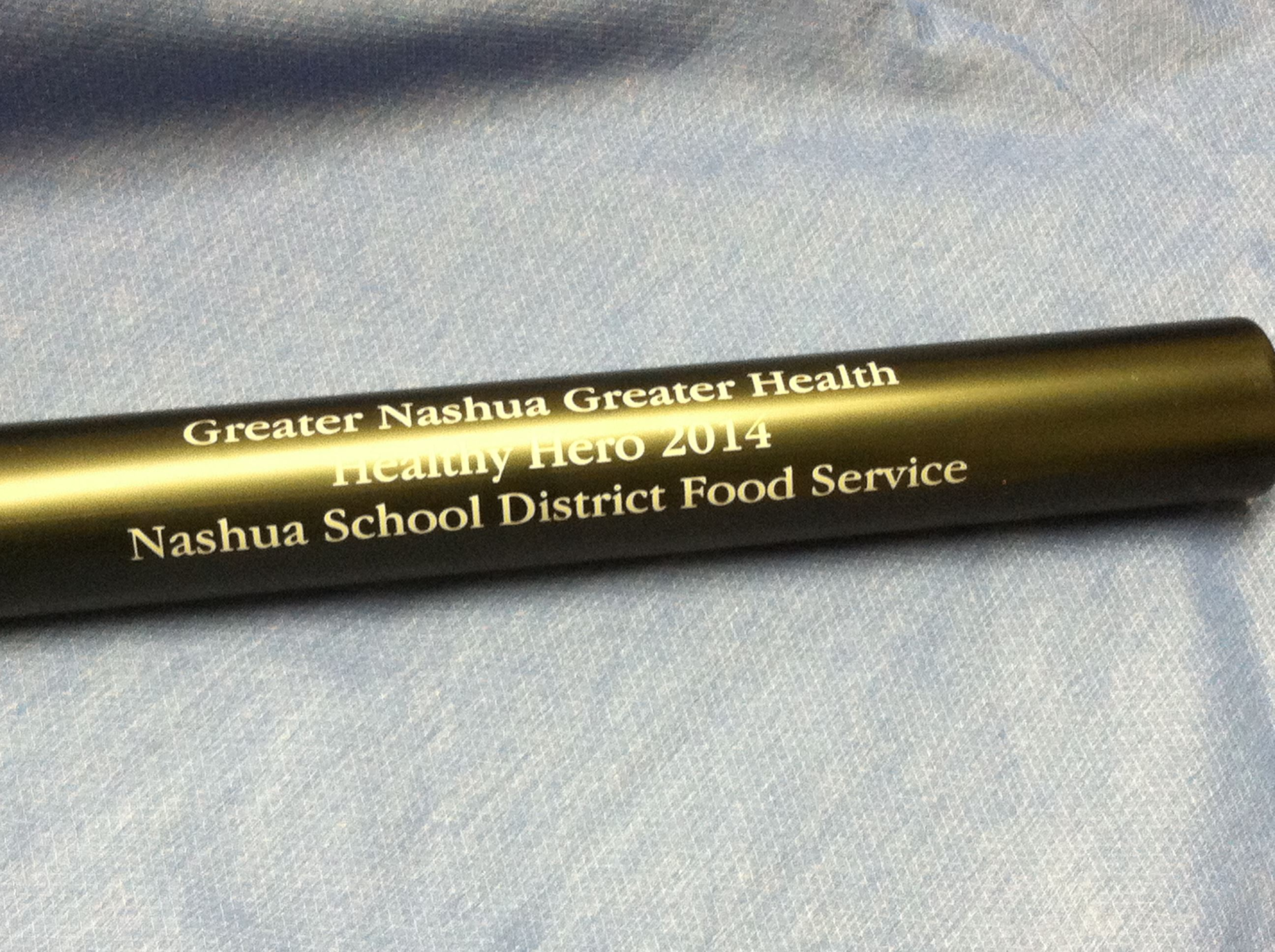 Greater Nashua Greater Health, Healthy Hero 2014, Nashua School District Food Service