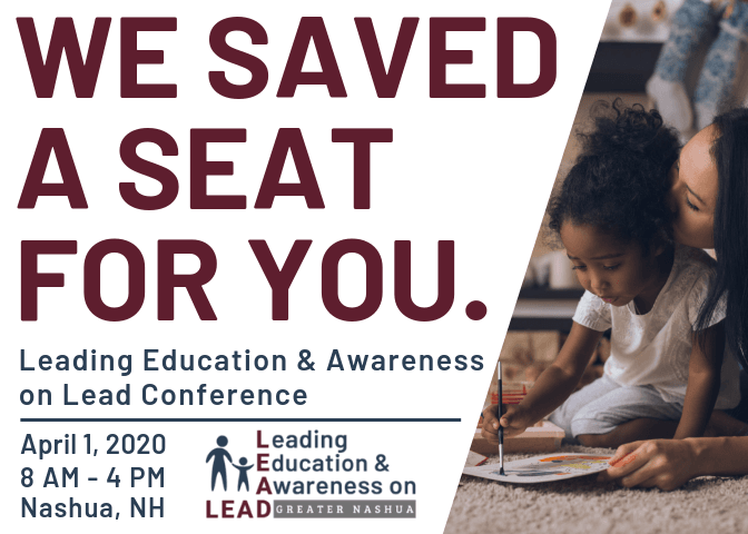 Save the Date Invitation for Leading Education and Awareness on Lead Conference on April 1, 2020