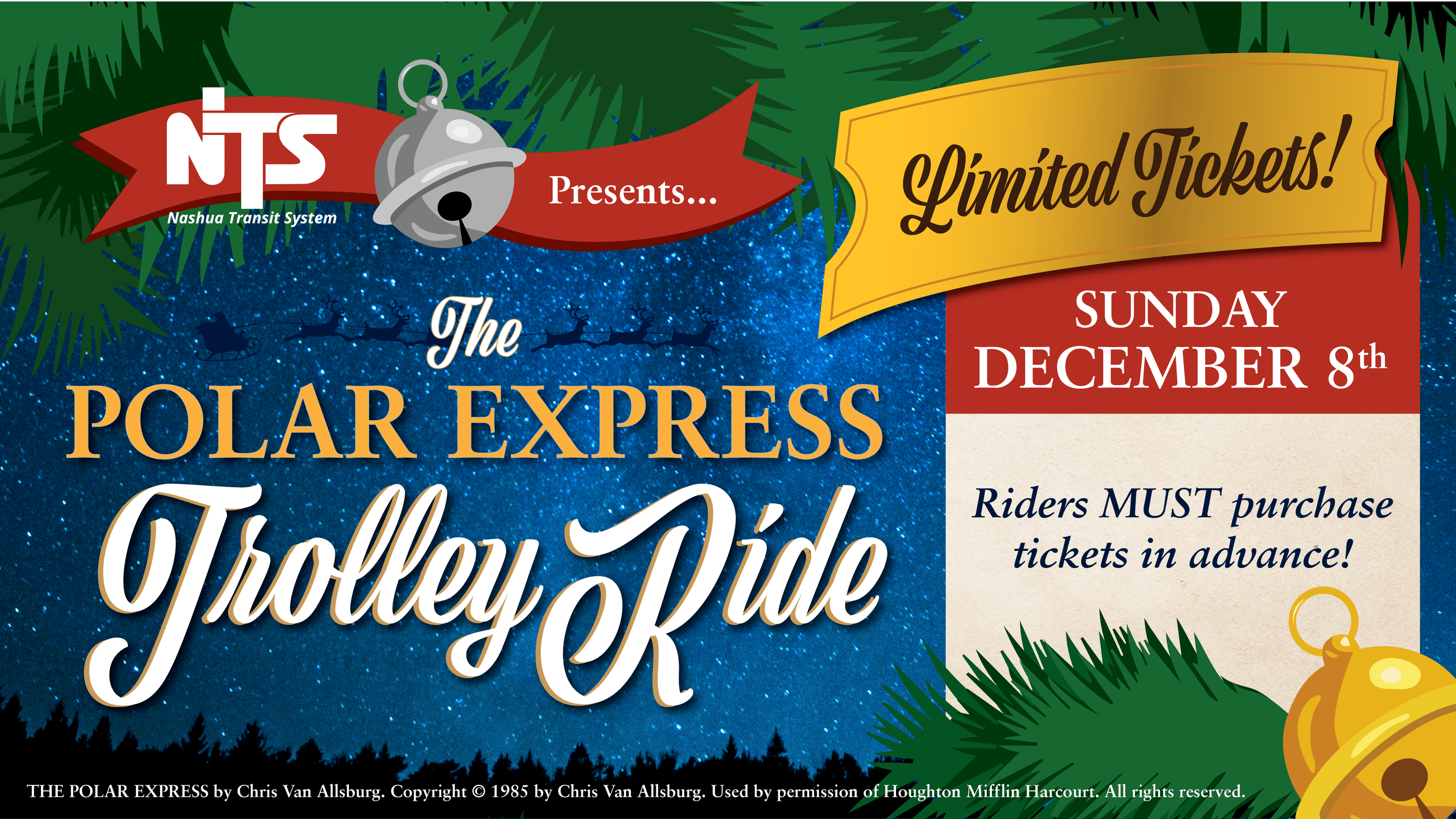 Polar Express Trolley Ride Header